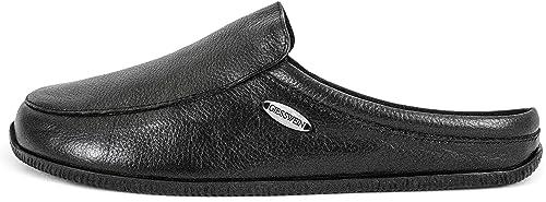 speziell für Schuh Verarbeitung finden billiger GIESSWEIN Manta – Unisex Hausschuhe, Bequeme Slipper, Flache Leder  Pantoffeln, Feste Gummi Sohle, Komfortabel, Elegant