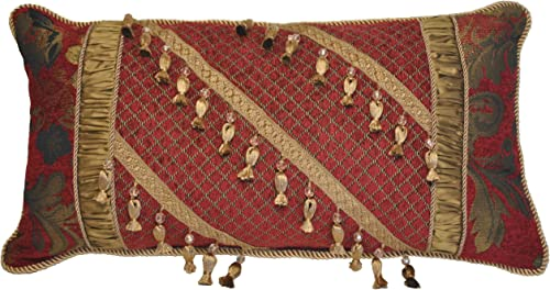 Austin Horn Classics Verona Boudoir Pillow, Red