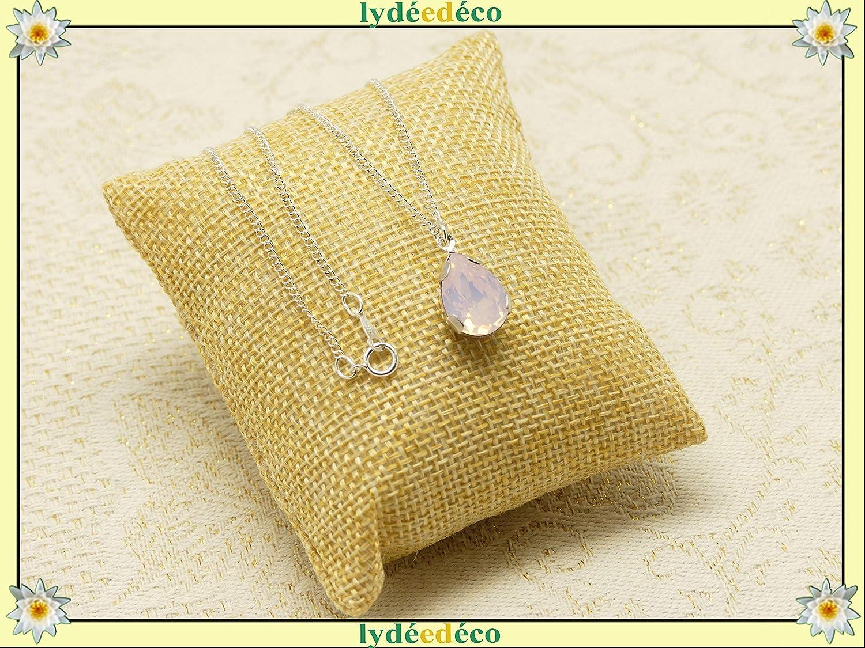 Collar Lila plata 925 Cristal Swarovski Lila malva pastel regalos navidad cumpleaños joyería ceremonia boda invitados día de la madre día de las damas de honor