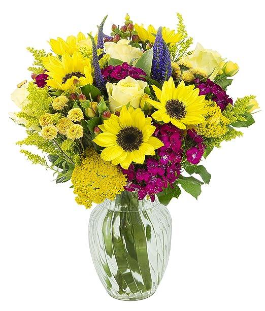 Pompom flowers Sunflower yellow wool pom poms Felt craspedia flowers Faux flower bouquet Bright floral arrangement Felt billy balls.
