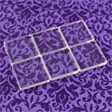 20 CleverDelights Square Glass Tiles - 1 Inch - Clear Tiles - Glass Cabochons - For Photo Pendants Mosaics Trays - 1