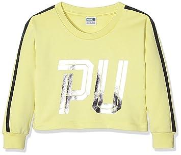 663cda69f799a Puma Sweat-Shirt de Sport pour Enfant 152 cm Elfin Yellow  Amazon.fr ...