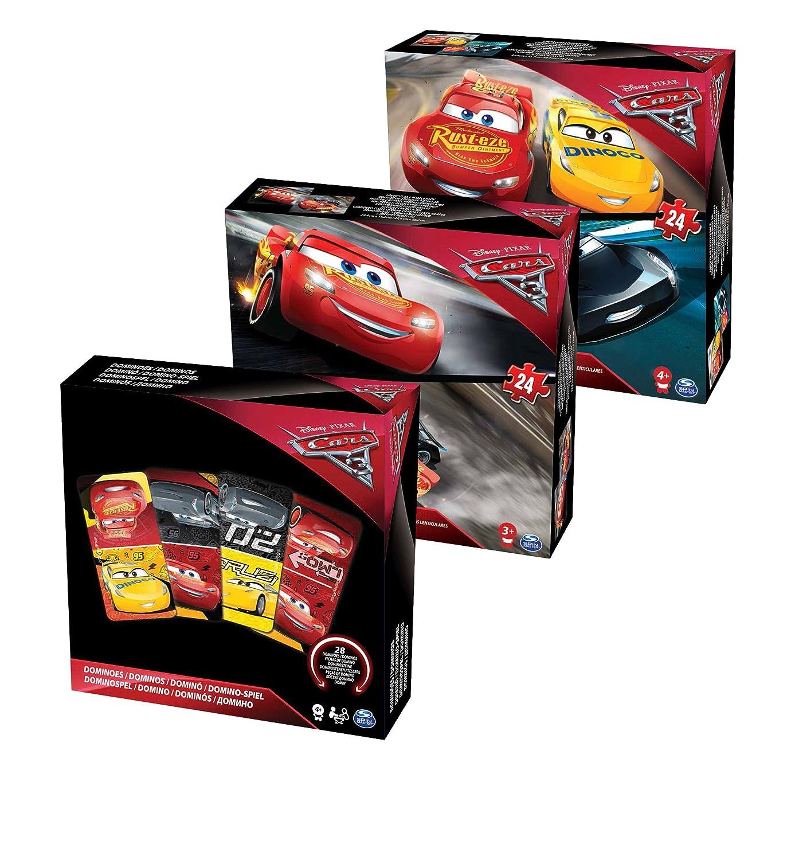 Cardinal - 6035596 - Bundle Puzzles + Jeux - Cars 3 Spin Master