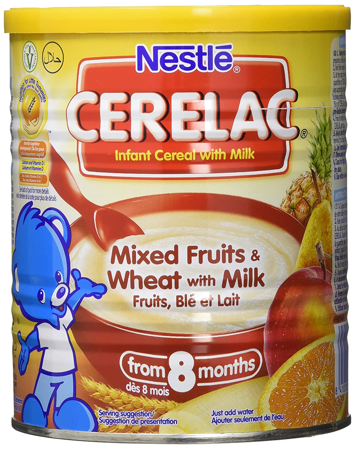 Nestle Cerelac, Mixed Fruits and Wheat with Milk, 14.1 Ounce Can (Pack of 24): Amazon.com: Grocery & Gourmet Food