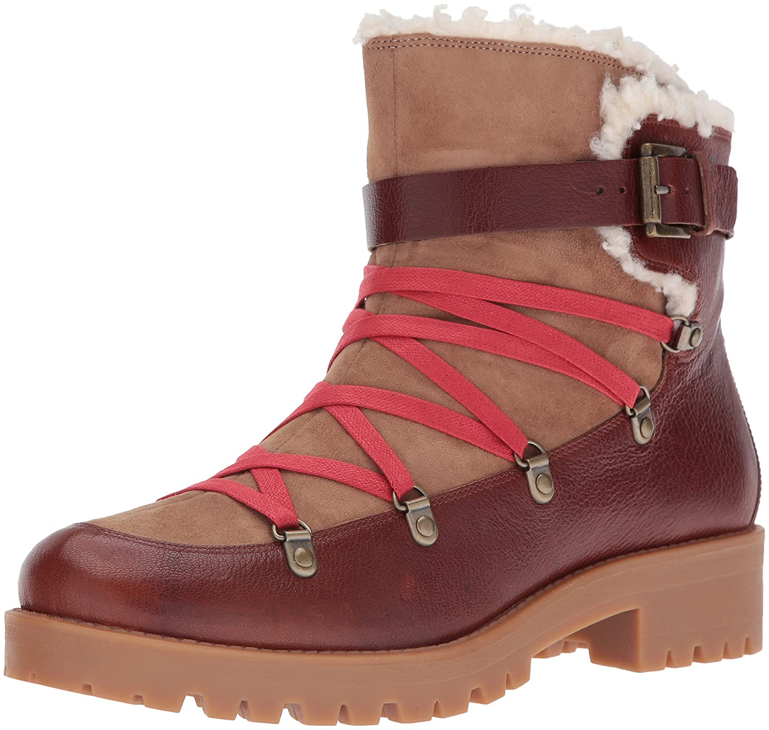 Nine West Women's Orynne Leather Boot B01EXYQ1JC 6 B(M) US|Cognac/Natural