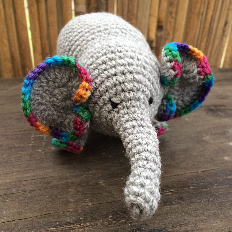 Elephant Soft Toy Crocheted Amigurumi Elephant Amigurumi Elephant.