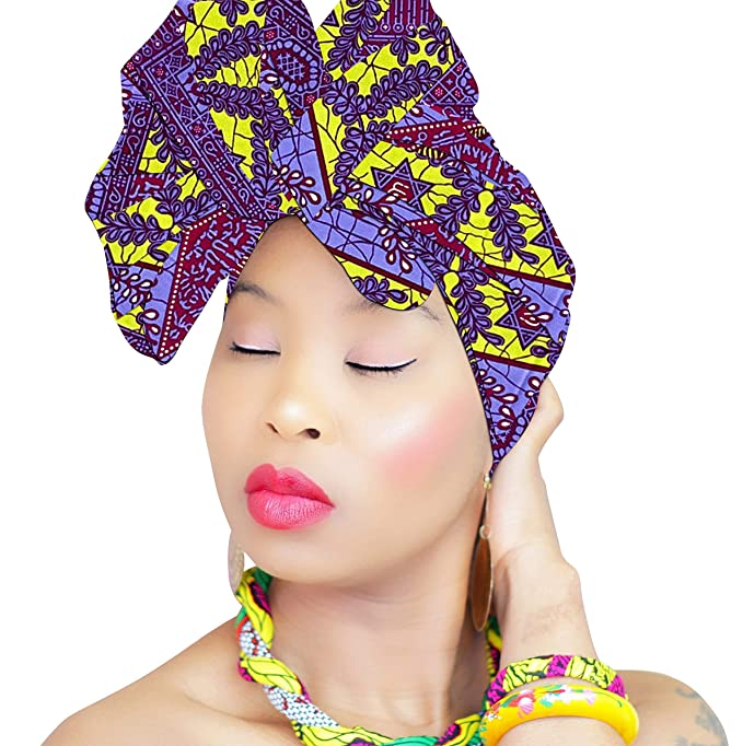 Hair Band for Braids, African Headwraps Headbands for Women Royal Head Wraps, Boho Yoga