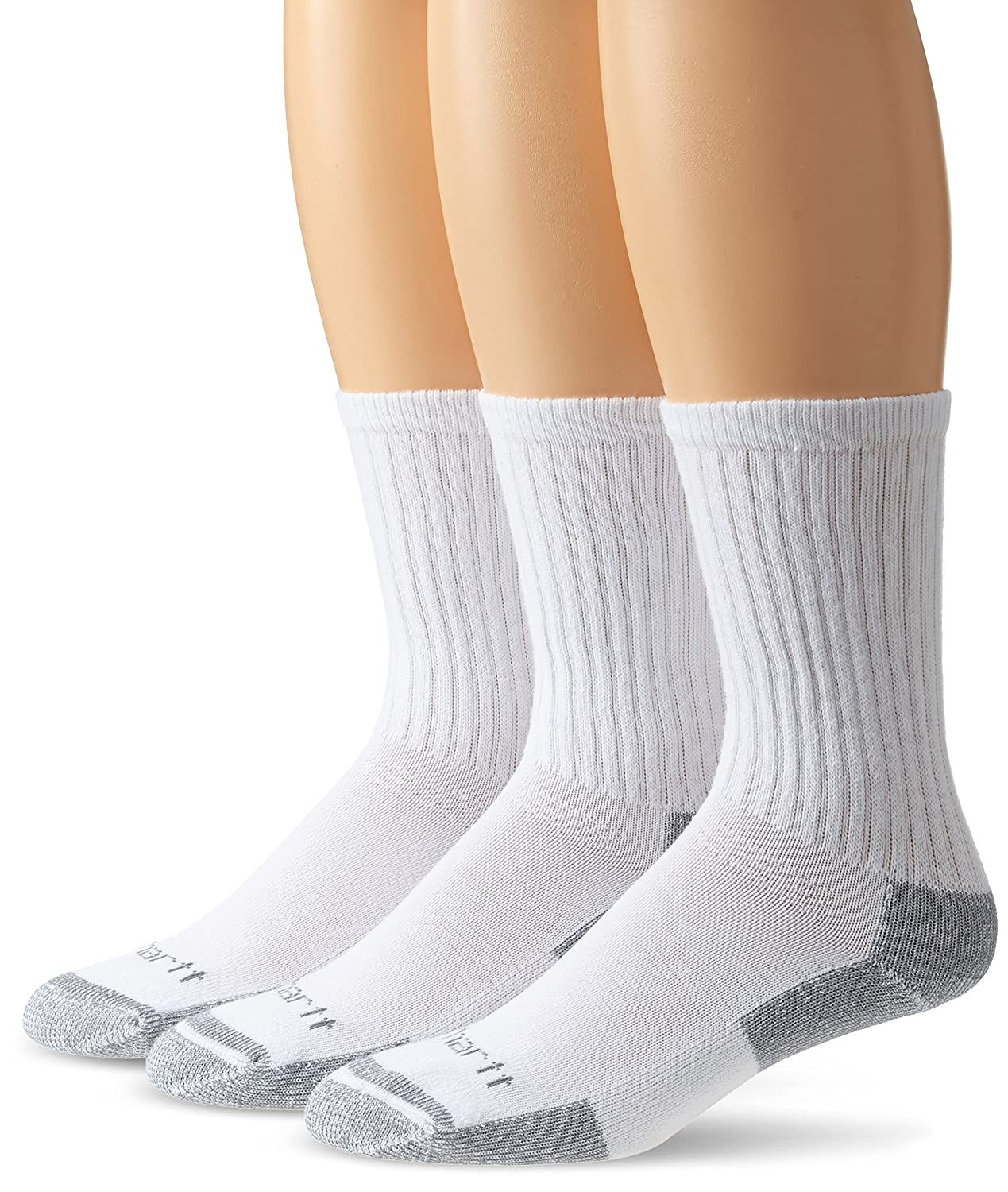 Carhartt Men's All-Season Cotton Crew Work Sock 3-Pack A62-3