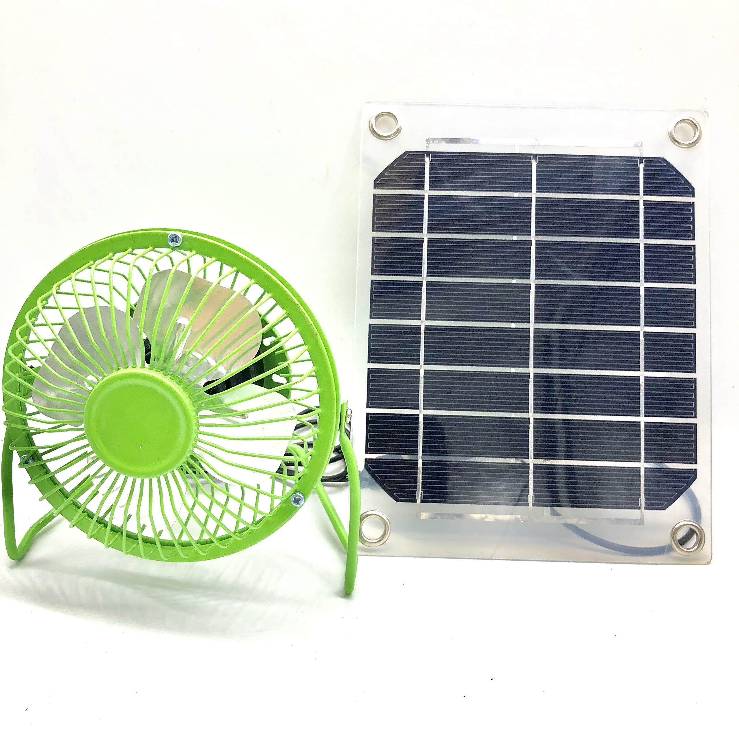 Solar Energy System 5W Solar Panel + 4 Inch Fan Solar Powered Fan Outdoor Home Cooling Ventilator Cooling Fan Solar Cooling Fan Office Home Decor