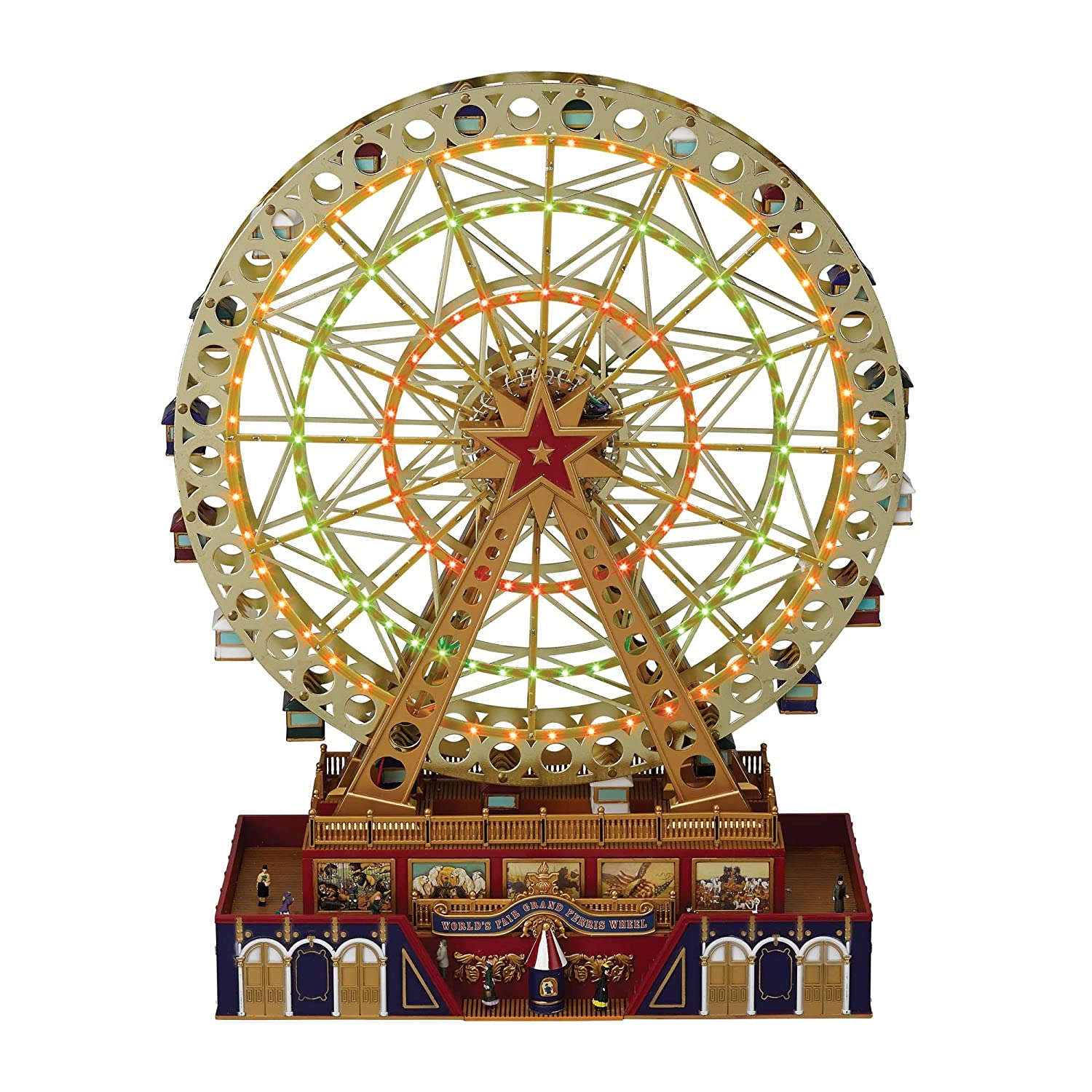 amazoncom mrchristmas musical worlds fair grand ferris wheel home kitchen - Christmas Ferris Wheel Decoration