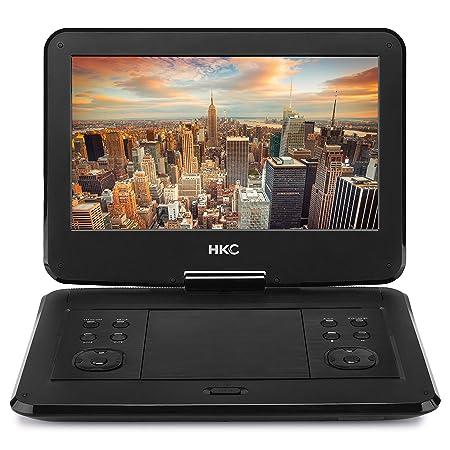 HKC D13HM: 33 cm (13 Zoll) tragbarer DVD-Player (Full HD 1.920 x 1.080, eingebauter Akku, SD-Karten-Slot, USB-Anschluss, Fern