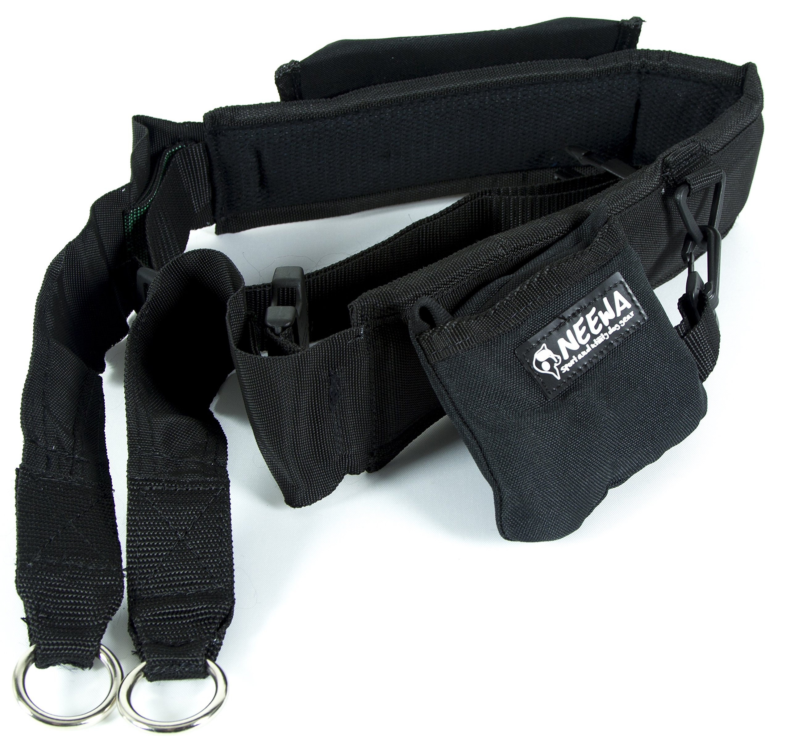 Neewa Dog Walking Belt with Pocket and Collapsing Bowl, Ideal for Trekking, Hiking and Hands Free Dog Leashes