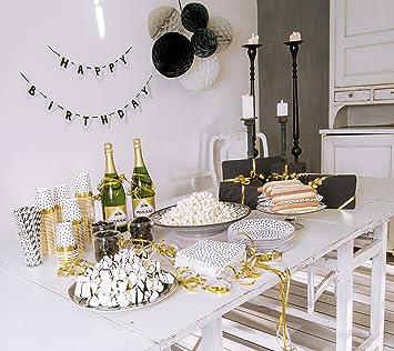 Jabadabado Grosses Partypaket Black White Schwarz Weiss Gold