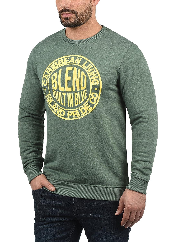 Blend Ilas Herren Sweatshirt Pullover Pulli Mit Print Und Rundhalsausschnitt
