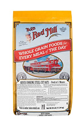 Amazon Com Bob S Red Mill Quick Cooking Steel Cut Oats 25 Pound