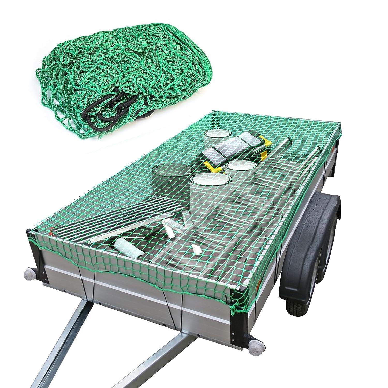 Oramics Vert Filet /à bagage pour remorque 2 x 3 m En nylon extensible r/ésistant aux d/échirures