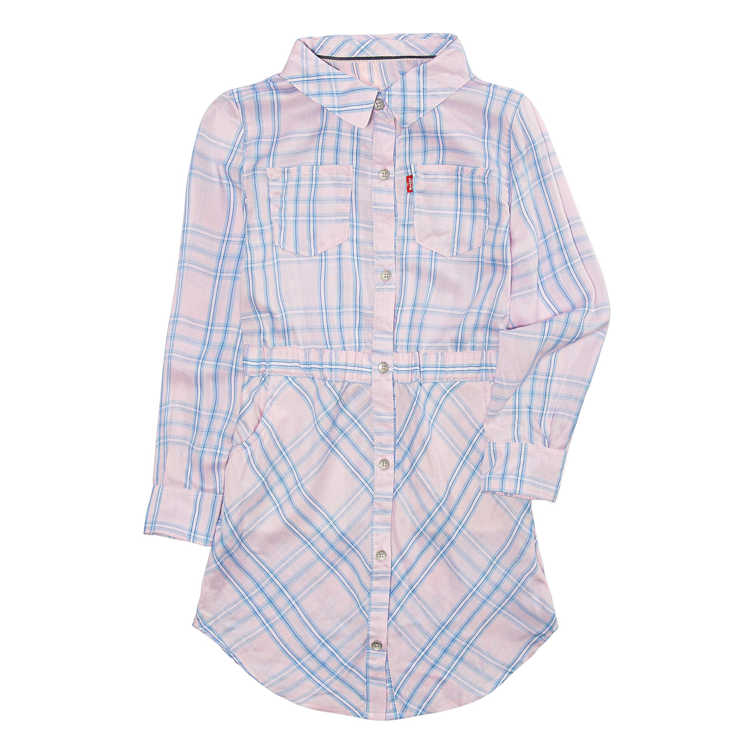 8863774ca Galleon - Levi's Girls' Toddler Long Sleeve Western Dress, Cyclamen/Powder  Blue, 3T
