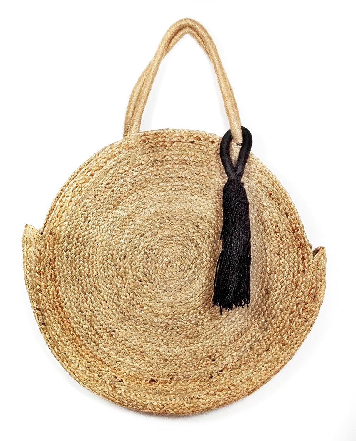 Zara Women Round Raffia Tote Bag 3156/304 by Zara