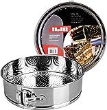 Ibili 650226 - Molde de tarta desmontable Inox 26 cm