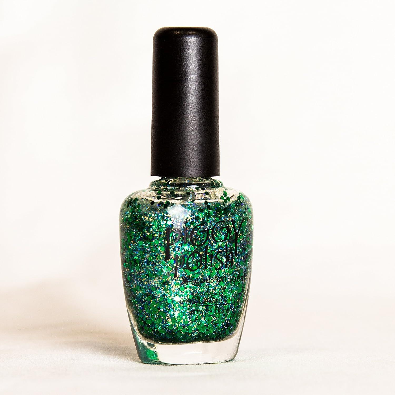 Amazon.com: Piggy Polish Christmas Glitter Green Nail Polish, Fun ...