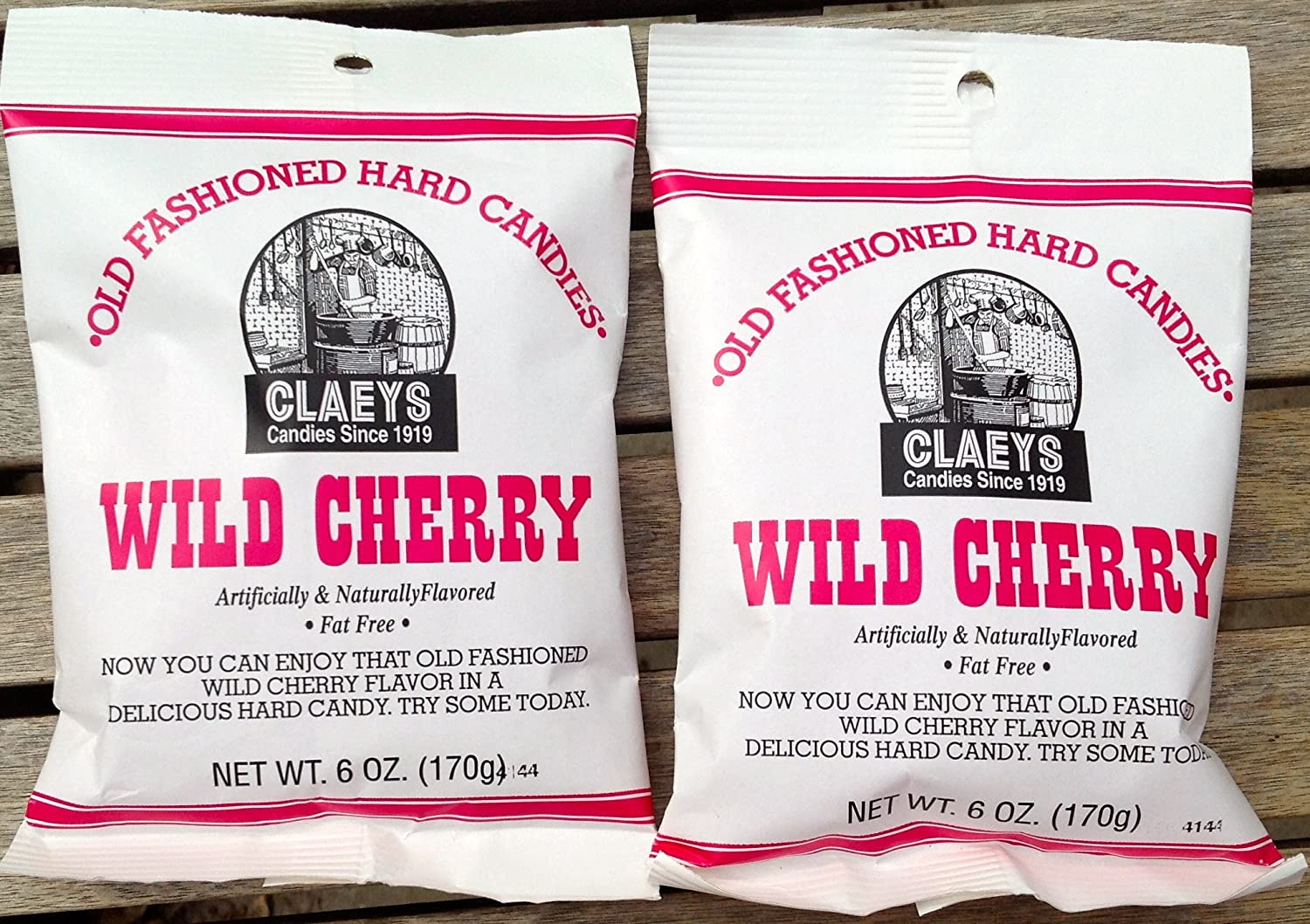 Claeys Wild Cherry Flavored Old Fashioned Hard Candy - (2 X 6oz Bags)