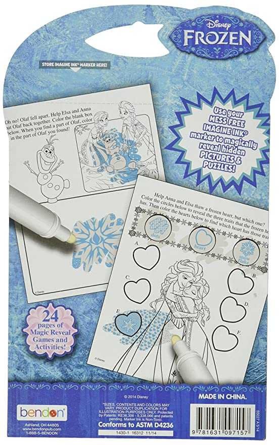 Amazon Bendon Publishing Disney Frozen Imagine Ink Mess Free Game Book Not Available Toys Games