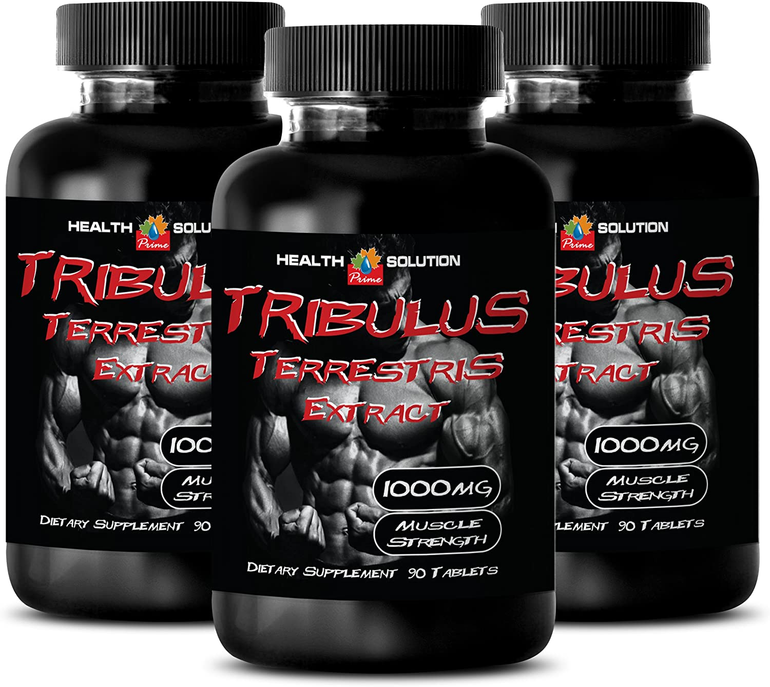 Tribulus terrestris for Men - TRIBULUS TERRESTRIS Extract 1000MG - Support libido (3 Bottles 270 Tablets)