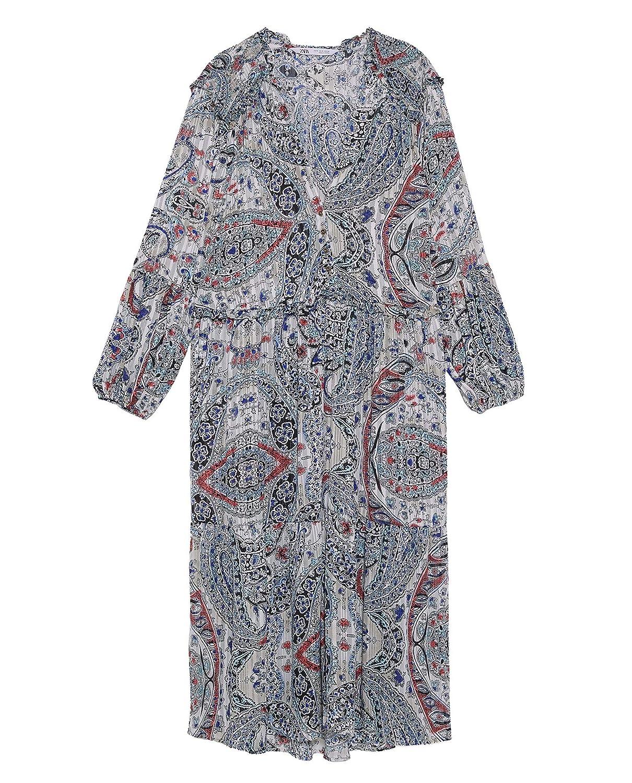 6c999250b Zara Women Printed Metallic Thread Dress 8351/021 at Amazon Women's Clothing  store: