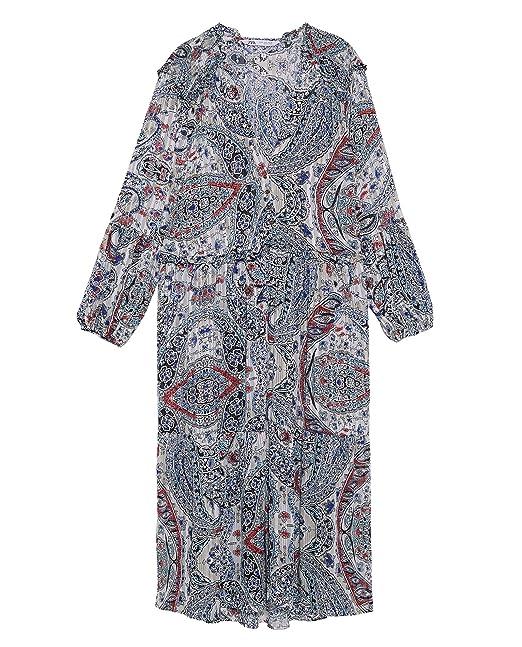 bac5c0e2 Zara Women Printed Metallic Thread Dress 8351/021 at Amazon Women's ...
