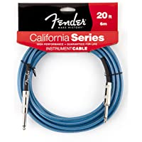 Fender California 20-feet Instrument Cable, Lake Placid Blue