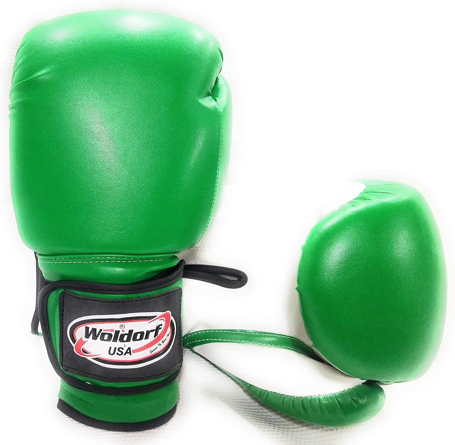 Woldorf USA Boxing Bag Gloves Sparring MMA Fighting Kickboxing Muay Thai Green