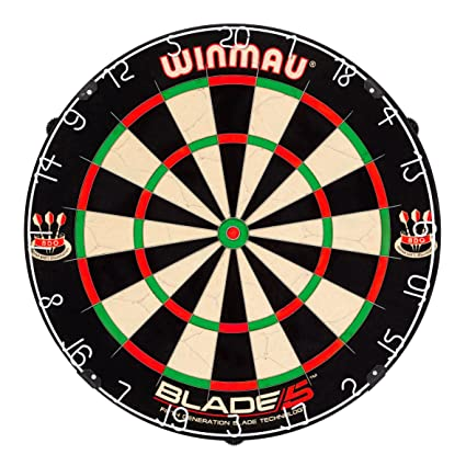 Winmau Blade 5 Bristle Dartboard with All-New Thinner Wiring for Higher on
