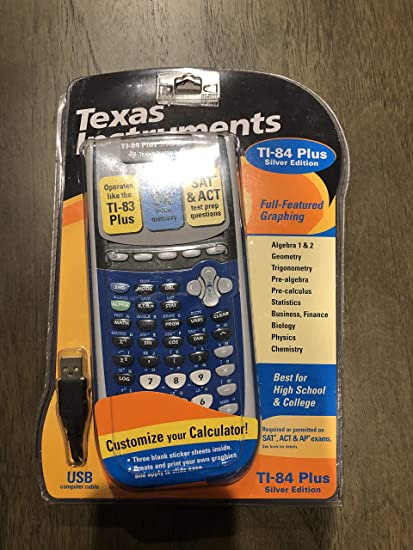 Amazon Texas Instruments TI 84 Plus Silver Edition Graphing