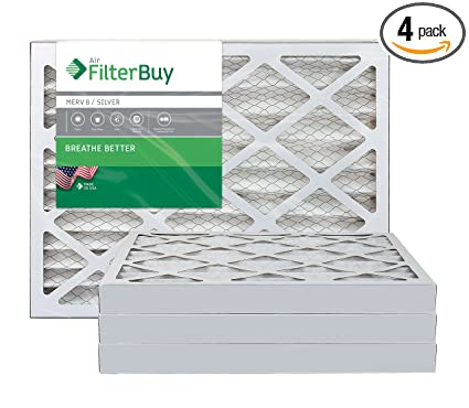 filterbuy 16x24x2 merv 8 pleated ac furnace air filter, (pack of 4 ...