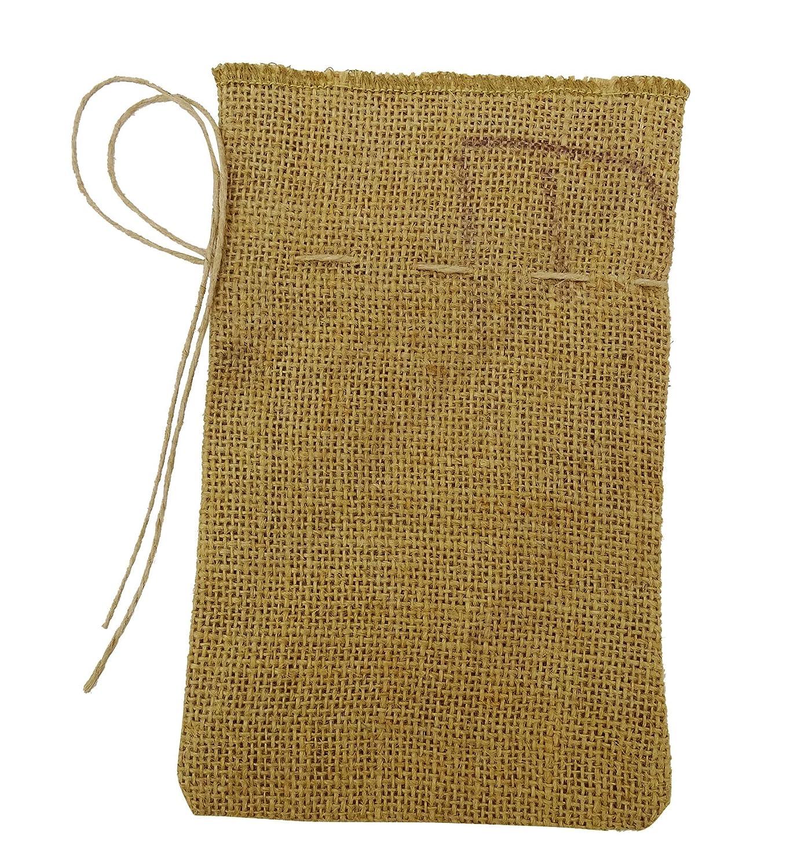 6bfd284df 50 Rústico Natural favor de partido de la boda bolsa de yute con cordón  gracias pequeño regalo saco Bolsas del 8