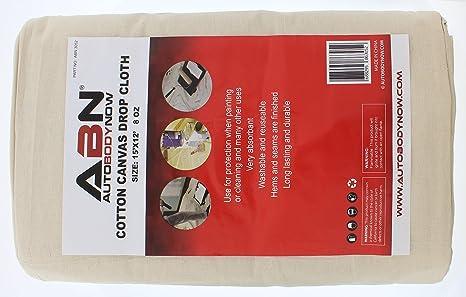 abn premium 12u0027 x 15u0027 foot jumbo canvas drop cloth all purpose cotton paint shield amazoncom