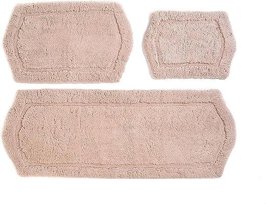 Chesapeake Merchandising 3-Piece Paradise Memory Foam Bath Rug Set Ivory