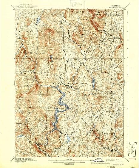 Topographic Map Vermont.Amazon Com Yellowmaps Wilmington Vt Topo Map 1 62500 Scale 15 X