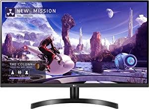 "LG 27QN600-B 27"" QHD (2560 x 1440) IPS Display with FreeSync, sRGB 99% Color Gamut, HDR10 with a 3-Side Virtually Borderless Design, Black"