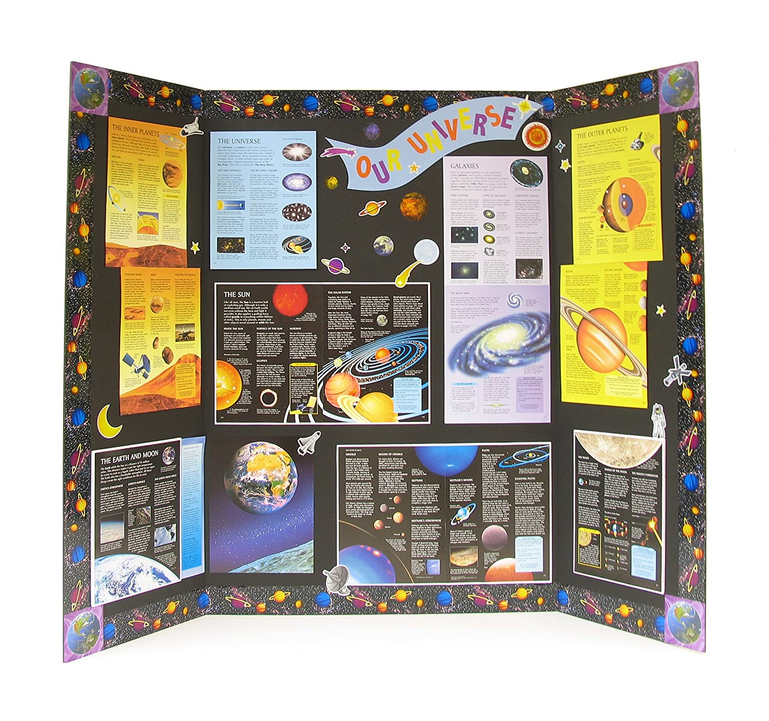 Amazon.com : Elmer\'s Heavy-Duty Tri-Fold Display Boards, 36 x 48 ...