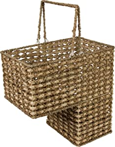 """Trademark Innovations 16"""" Braided Rope Storage Stair Basket with Handles"""