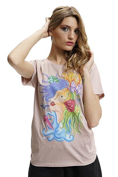 Morgan Visioli Fashion - Camiseta - Animal Print - Clásico - Manga Corta - para Mujer: Amazon.es: Ropa y accesorios