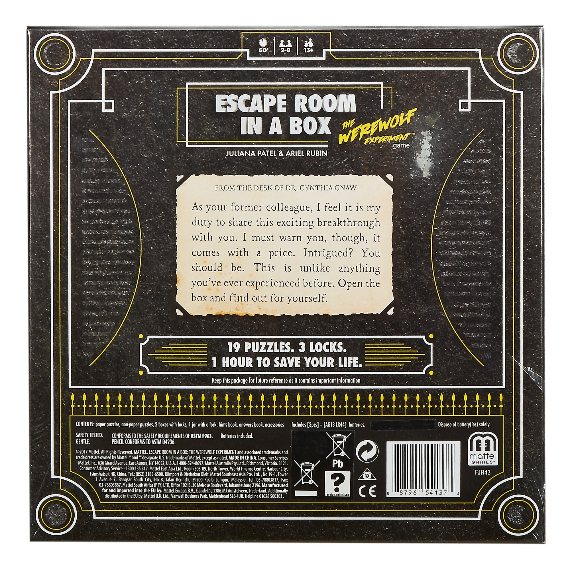 Escape Room in a Box: The Werewolf Experiment by Mattel Games (Image #1)