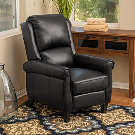 Lloyd Black Leather Recliner Club Chair & Amazon.com: Lloyd Black Leather Recliner Club Chair: Kitchen u0026 Dining islam-shia.org
