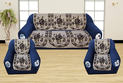 Super Buy Romee Polyester Fabric Floral Design Sofa Covers Set Of Beatyapartments Chair Design Images Beatyapartmentscom