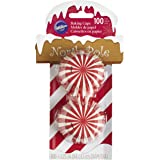 Wilton 415-1981 100 Count Christmas North Pole Baking Cups, Mini