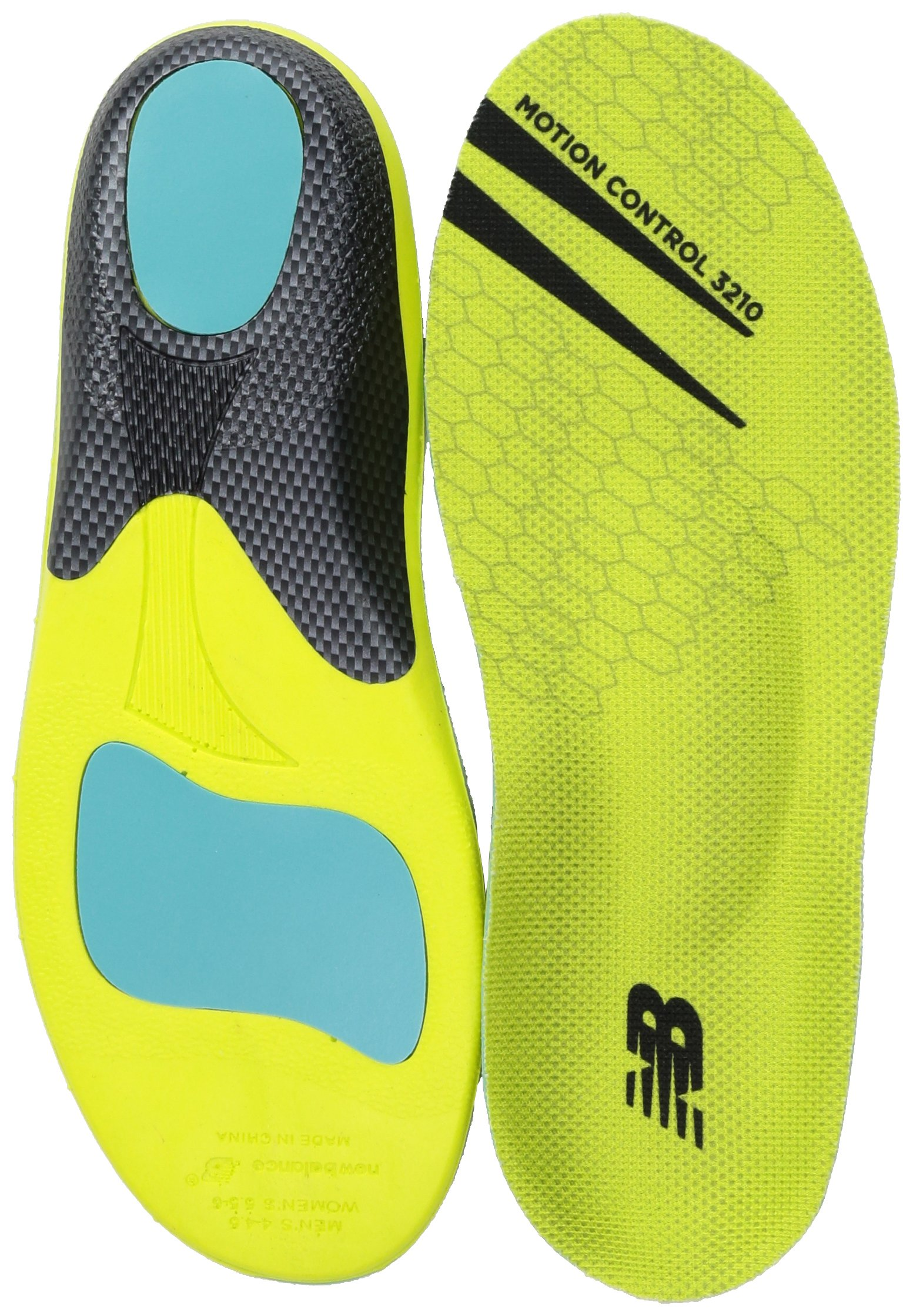 New Balance Insoles 3210 Motion Control Insole Shoe, neon green Medium/M 10.10.5, W 11.5-12 D US