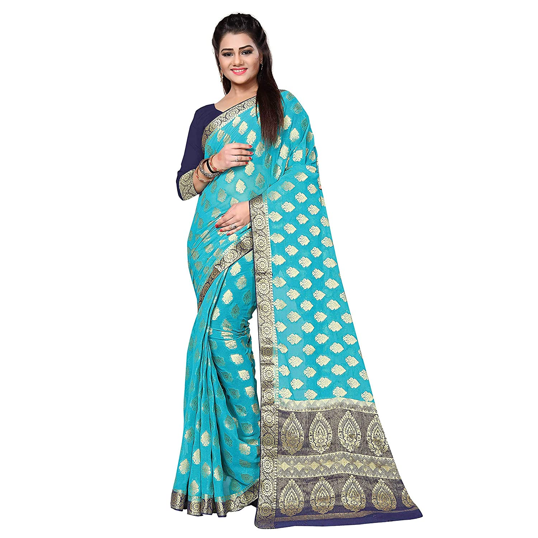 Kanchipuram Kanjivaram Pattu style chiffon butta silk saree with Blouse