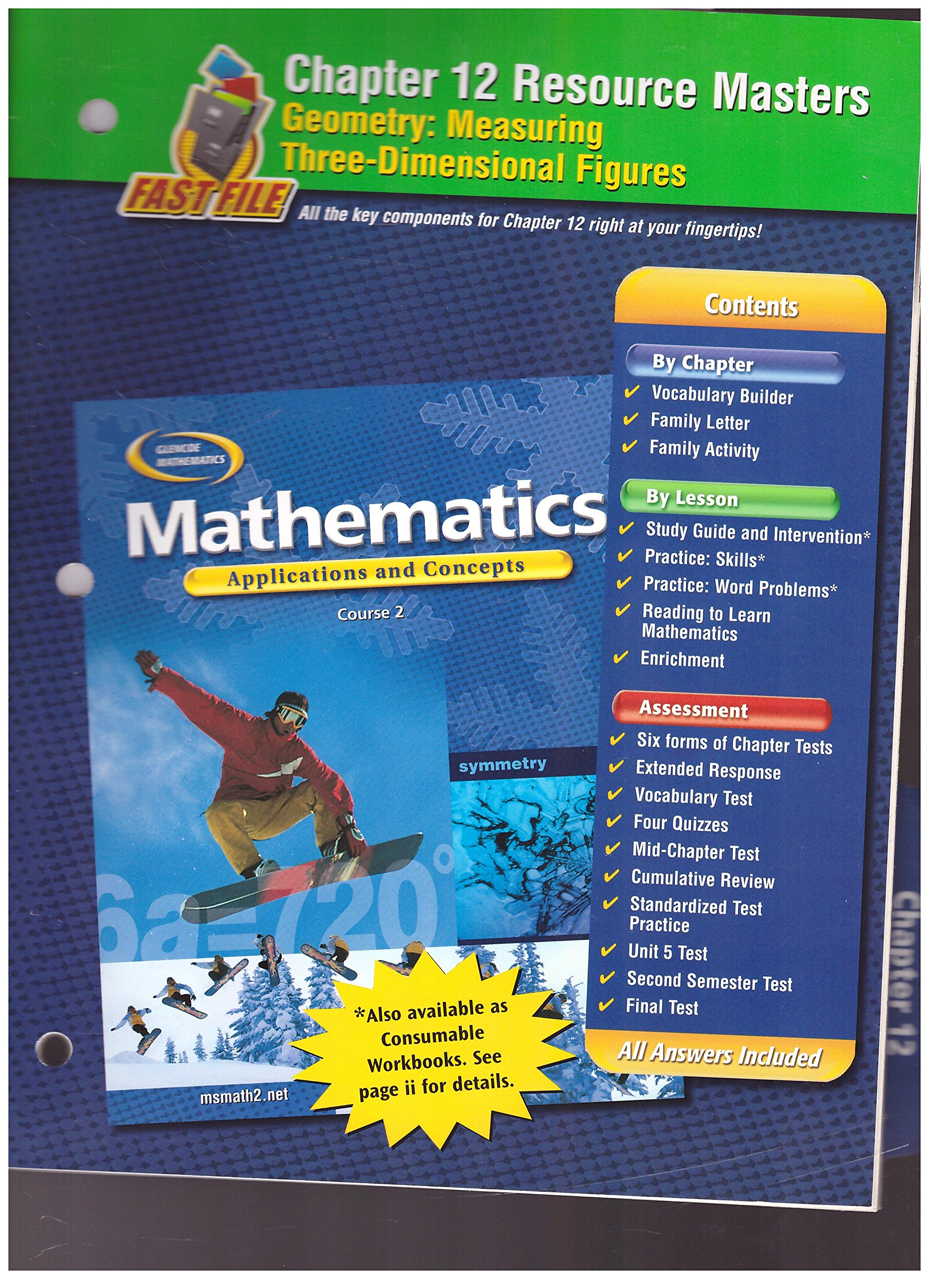 Download Glencoe Mathematics, Applications and Concepts, Course 2. Chapter 12 Resource Masters. ebook