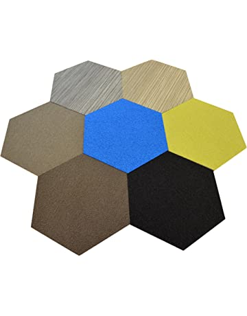 Dean Flooring Company Affordable Hexagon Shaped Commercial Carpet Tile - Random Assorted Colors - 45 Square